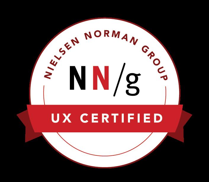 NN/g UX Certificate UXC#1019494