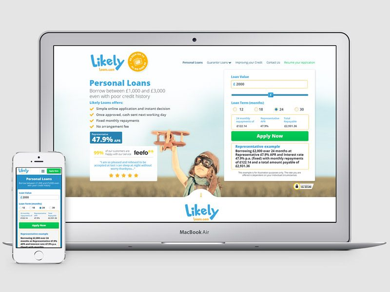 Likely Loans Homepage