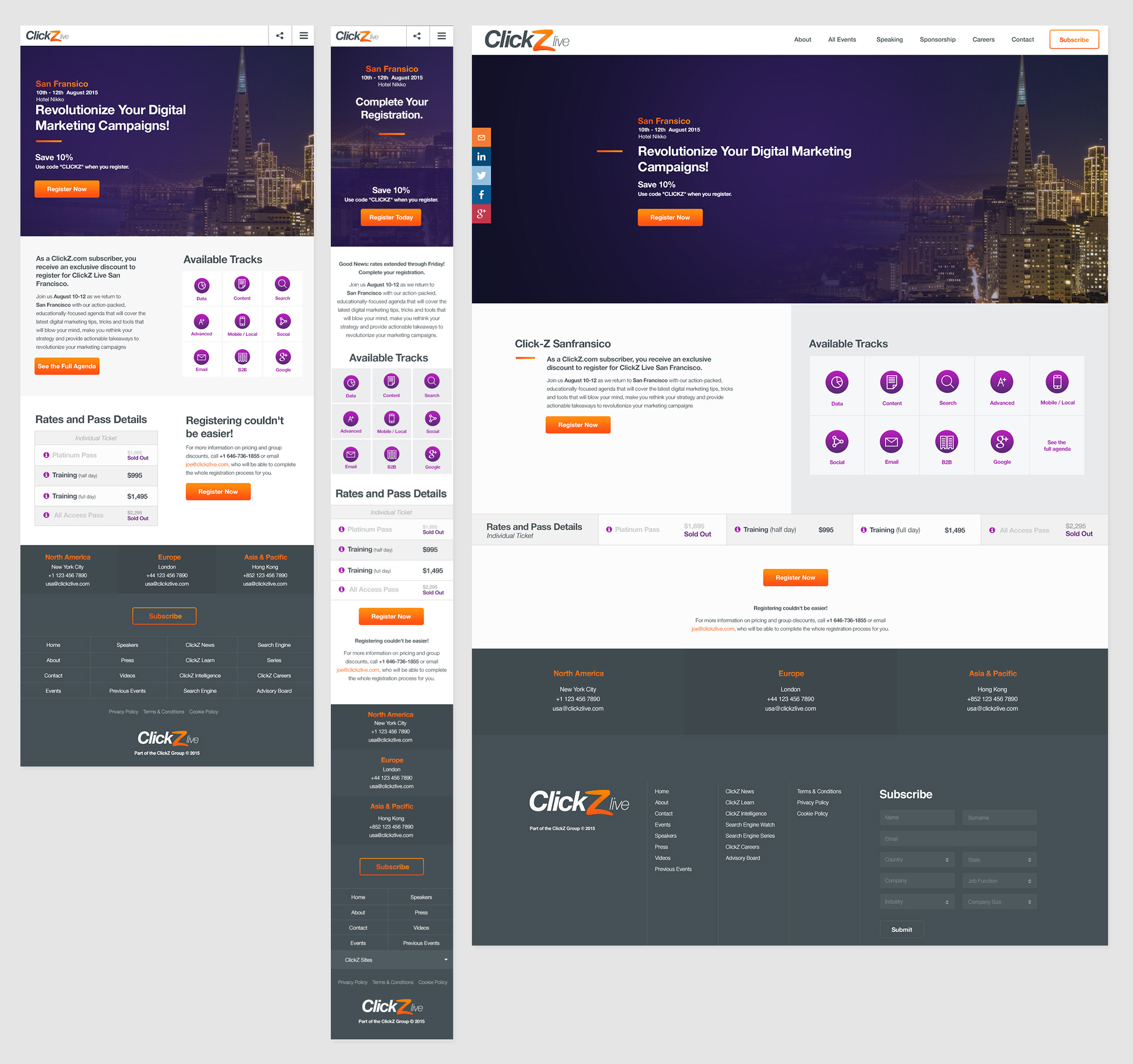 Click Z Landing Page